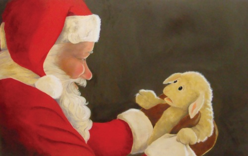 Karen Romagna Santa_&_Lamb_For_Prints