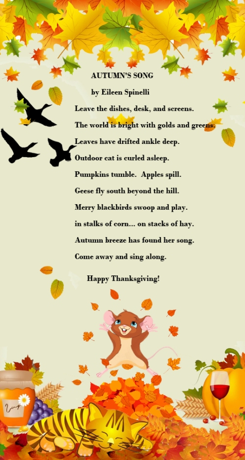 Happy Thanksgiving – Poem, Kudos and Vote | Writing and ...