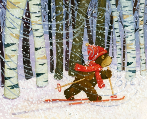 sarah dillard bear skiing in trees