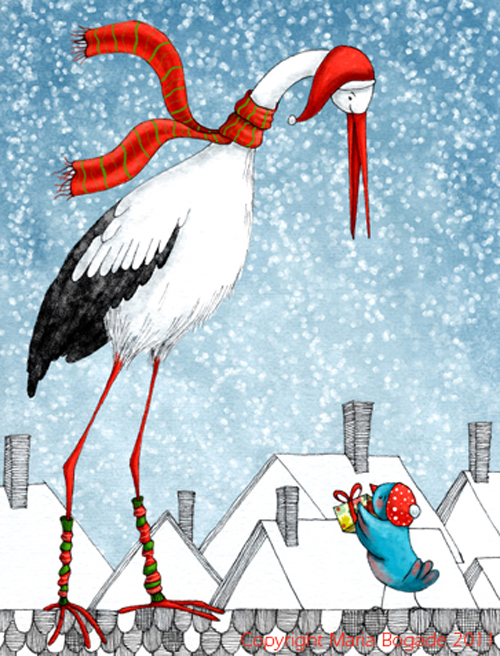 bogadeChristmascard stork2bigger