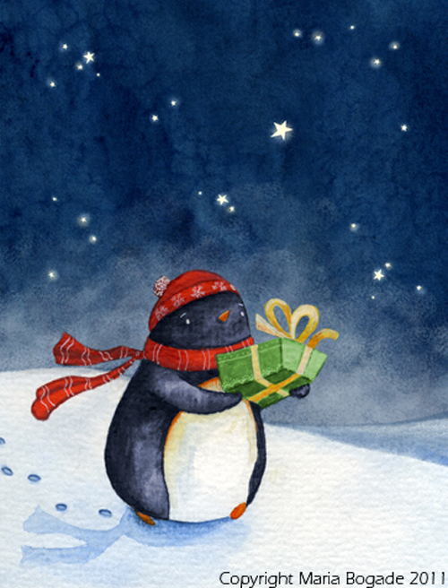 bogardChristmascard penguinbigger