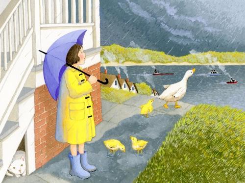 joannefrairyellow raincoat WI