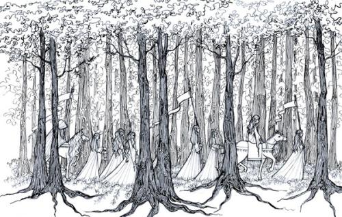 manelle walking through woods