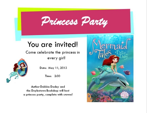 Princess Party postcard