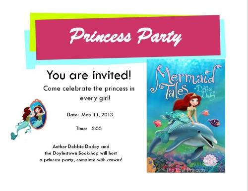 Princess Party postcard