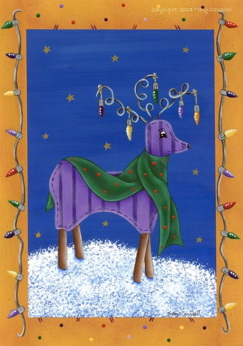 Tracy Campbell - Christmas Clad Reindeer