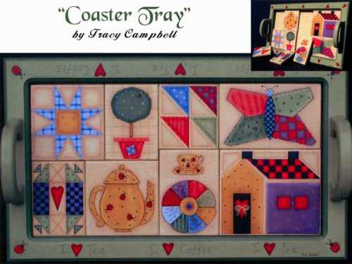 Tracy Campbell - Coaster Tray - I Love Coffee, I Love Tea