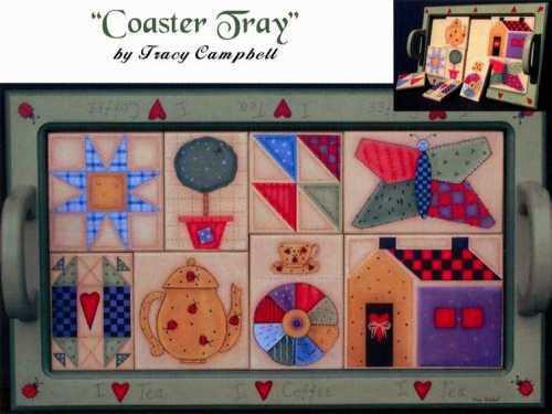 Tracy Campbell - Coaster Tray - I Love Coffee, I Love Tea