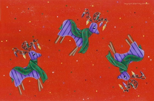 Tracy Campbell - Holiday Clad Reindeer 1