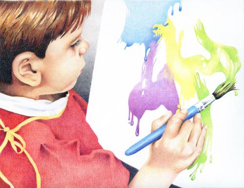 Child painting094500