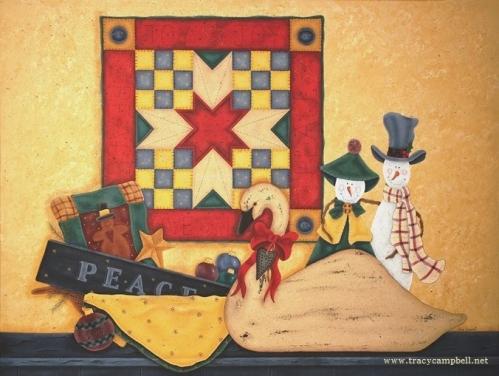 ChristmasJoy, Love, Peace - Tracy Campbell - Kathy Temean - December Illustration