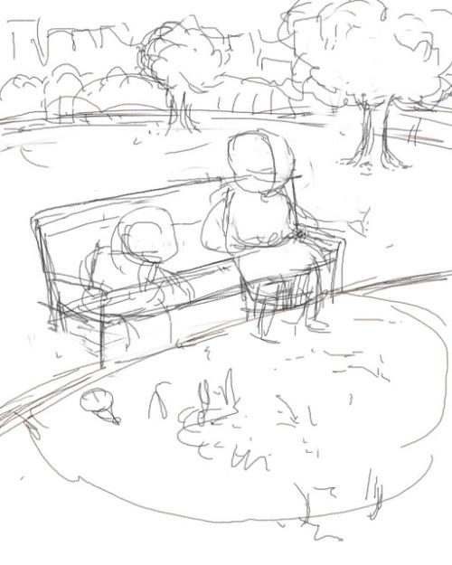 bobFeeding Dino's at the park Sketch