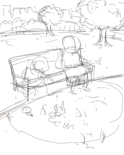 bobFeeding Dino's at the park Sketch
