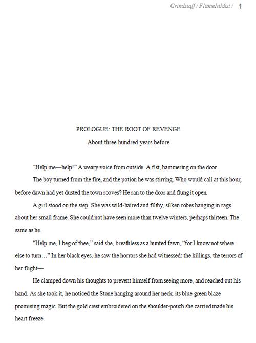 Formatting Novel Manuscript Example | Writing and Illustrating