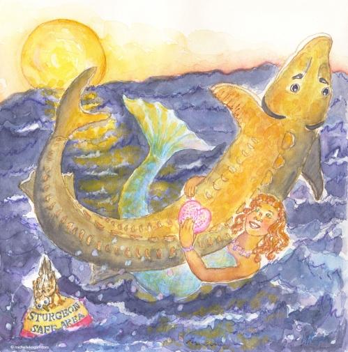valentineMichelle Kogan-© 2014-Mermaid-and-Sturgeon