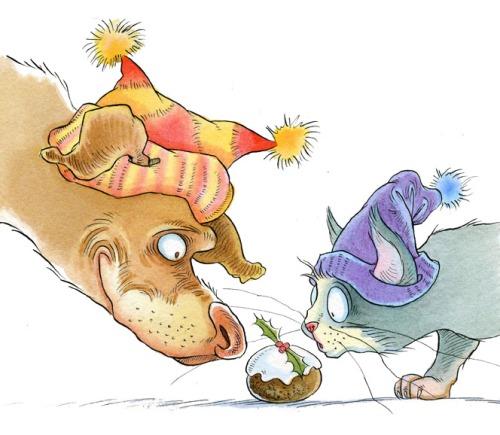 lyncat,dog&christmas pudding-emailjpg