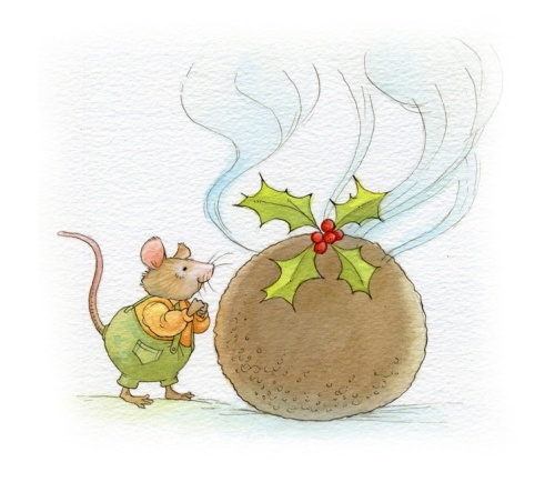 lynmouse-with-christmas-pudding