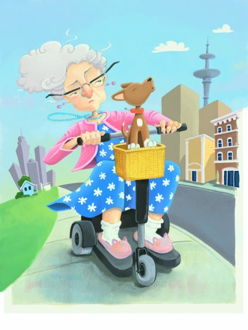 deniseold lady and the scooter 1