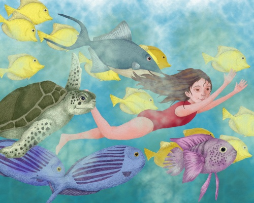 colleenswimming with the fish7