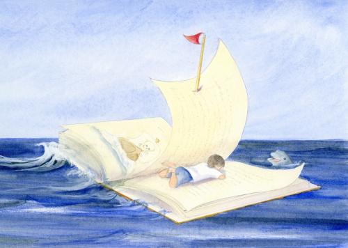 Romagna_Boy reading book