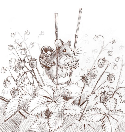 maja sereda wild strawberry mouse step 01