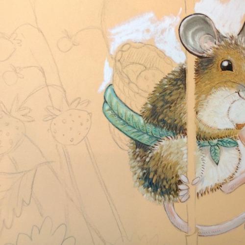 maja sereda wild strawberry mouse step 03