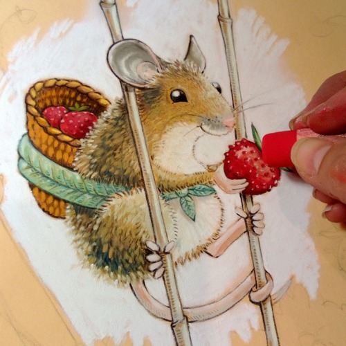 maja sereda wild strawberry mouse step 04