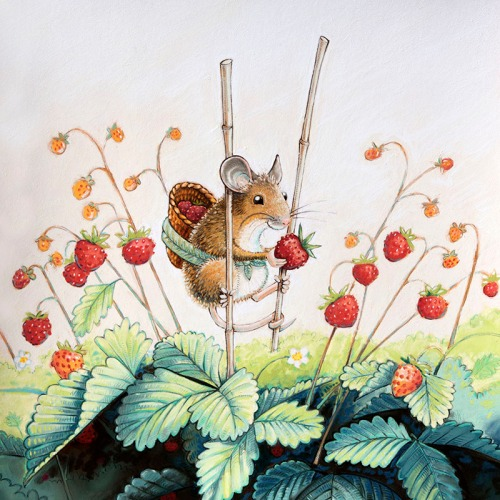 maja sereda wild strawberry mouse step 08