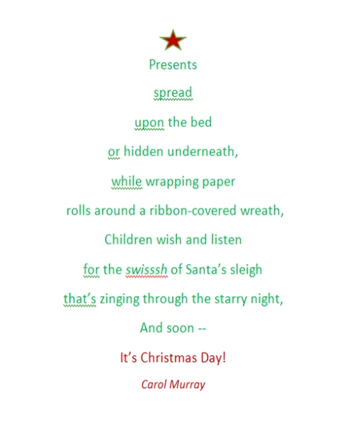 Poem About A Christmas Tree: Writing And Illustrating