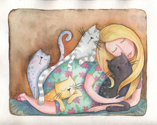 ines10 woman of cats