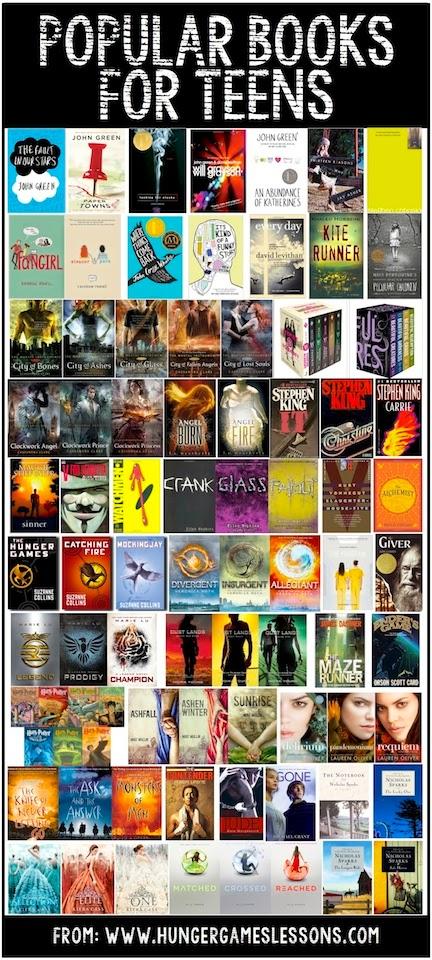 PopularBooksForTeens-HGLessonsSmall