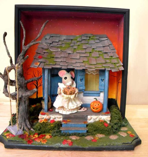 eberzSTEP 7(of 8)_Mouse House diorama_wip pics_Robert  Eberz