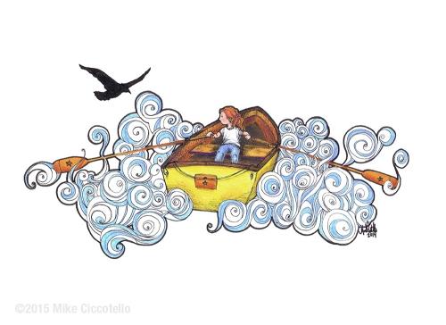 RowingDownCloudRiver