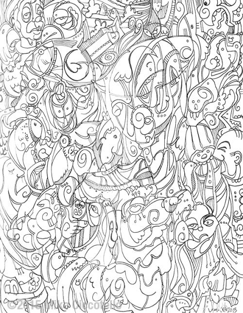 TheBullAndTheBlueBird_LineArt_ColoringBook