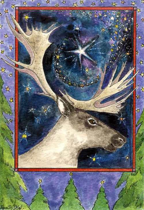 Christmas-Caribou_art