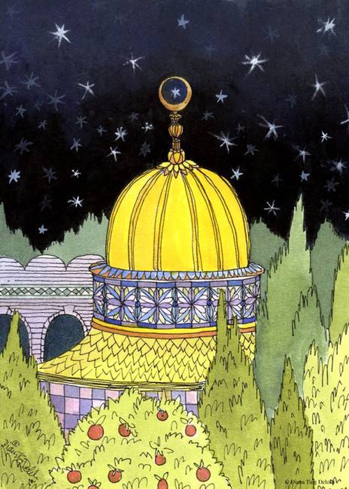 Golden-Mosque_art