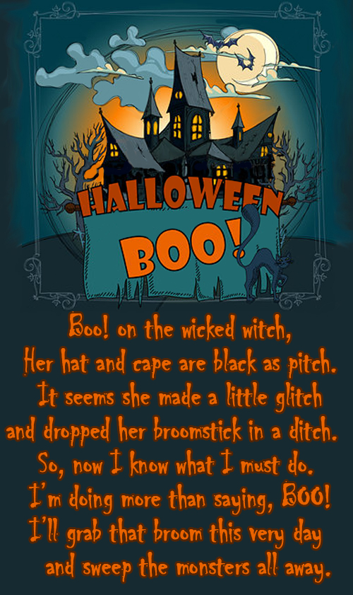 halloween poem by Carol Murray