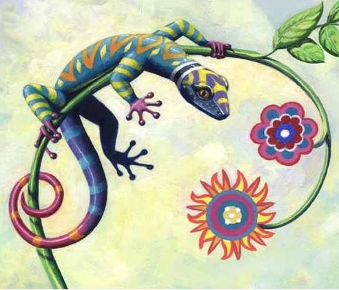 painted iguana