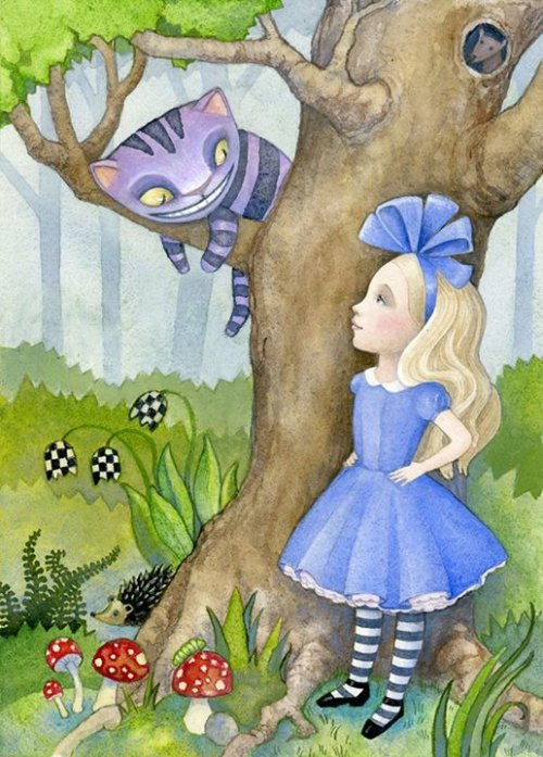 alice and the cat