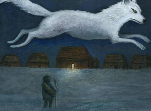 wolf in sky