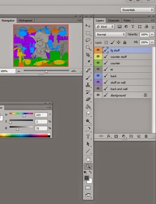 process 3 layers