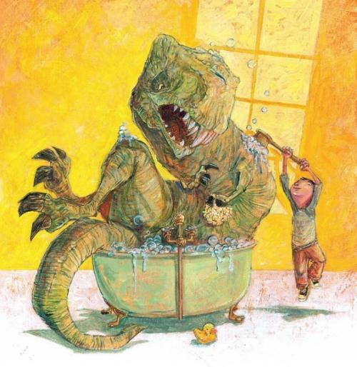 dinosaur bath