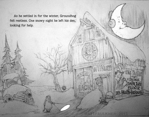 process barn sketch