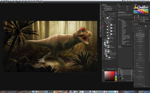 Photoshop with layers