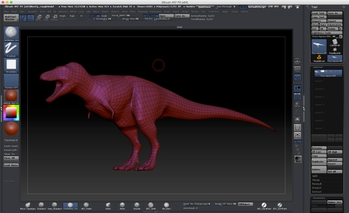 Rough Model brought into Zbrush for Sculpting