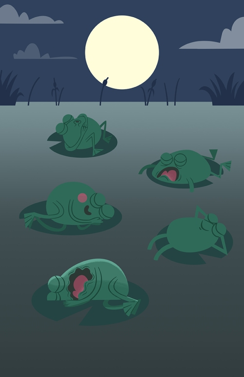 Sleeping Frogs step 03