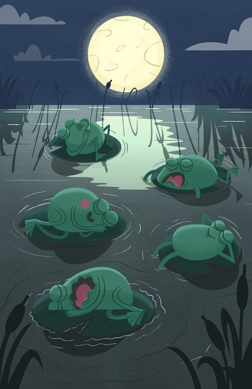 Sleeping Frogs step 06