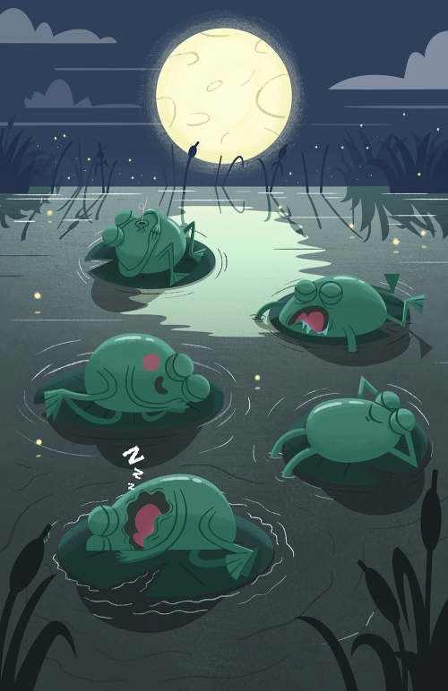 Sleeping Frogs Step 07