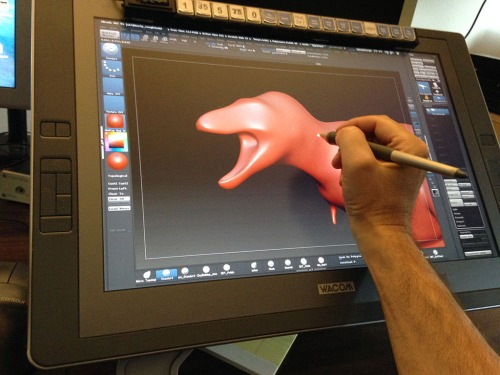 Tablet Stylus - sculpting in Zbrush