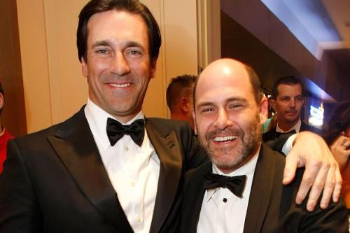 Matt Weiner and Jon Hamm